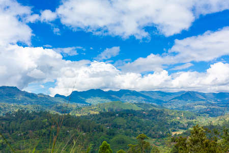 Nature breathtaking landscape of the island of Sri Lanka.