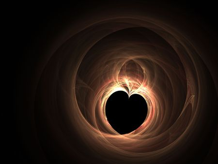 special effect: Heart, background, art and special effect for love
