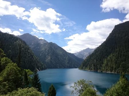 The lake at the top of Jiuzhaigou