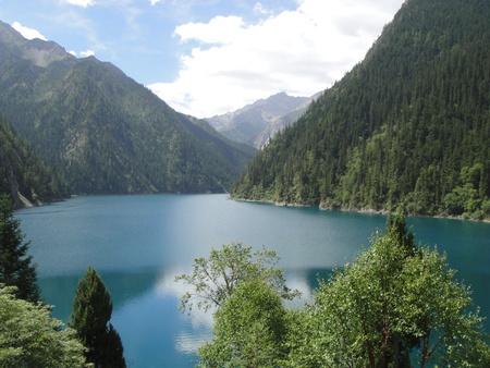 A lake on the top of Jiuzhaigou