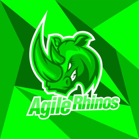 agile rhinos for e sport logo, and the others team sport and for your brand identity 向量圖像
