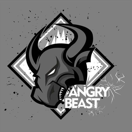 Angry bull or angry buffalo to descriptive the team club and e sport team and the other team
