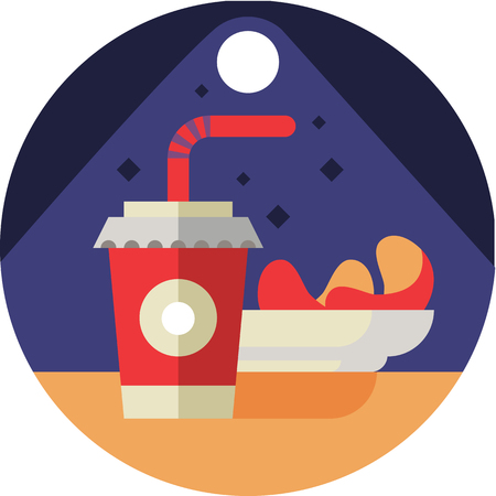 Cinema Food Icon In Flat Style