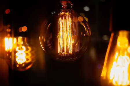 """LED filament thread lamp - """"vintage"""" looking decorative lamps at the showcase."""