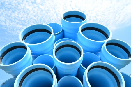 Blue water pipes Imagens