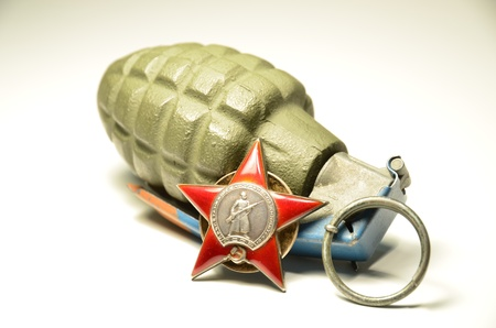 red star and grenade