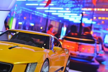 sport yelloy car