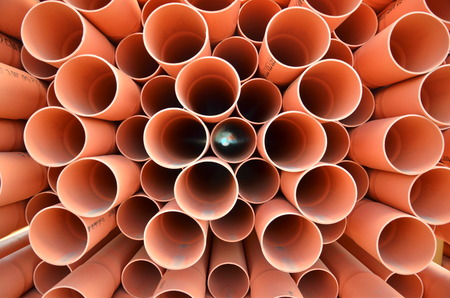 stackable: pvc pipes Stock Photo