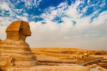 Sphinx Pyramid Giza Cairo Egypt Stock Photo