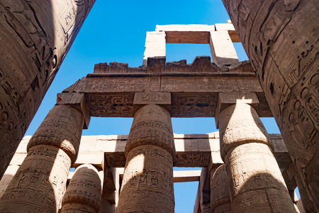 thebes: The ancient temple of Hatshepsut in Luxor, Egypt Stock Photo
