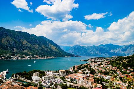 Kotor Montenegro의 장엄한 경관 스톡 콘텐츠