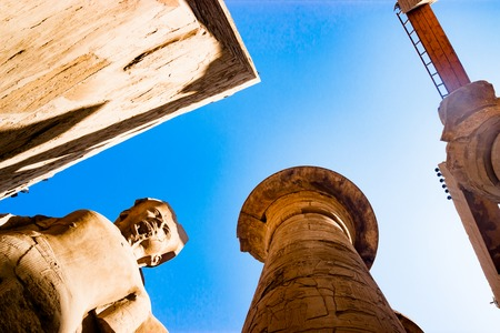 Statue in the temple of Karnak in Luxor, Egypt