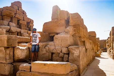 Near the ruins in luxor, Egypt