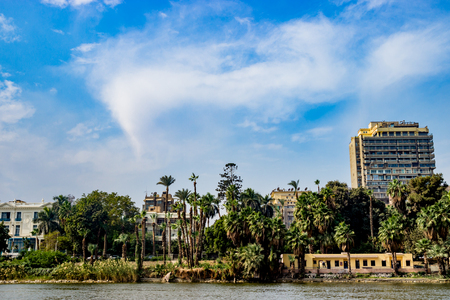 Buildings on background in Cairo, Egypt