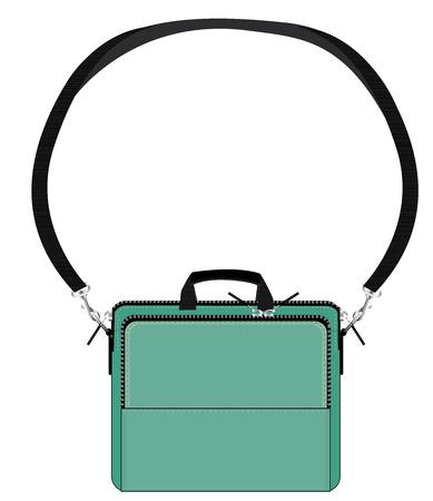 packsack: bag green