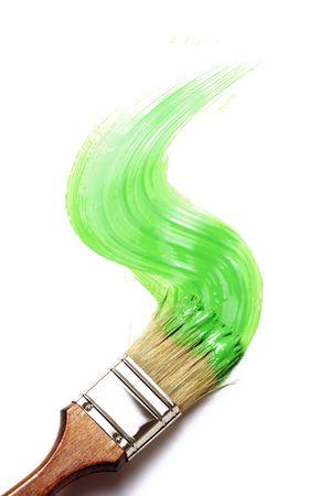 emulsion: paintbrush Stock Photo