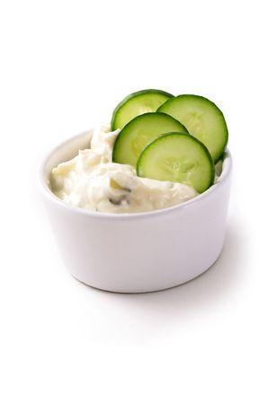 dietetic: tzatziky yogurt sauce Stock Photo