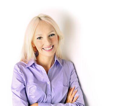 Beautiful smiling businesswoman. elegance office worker.