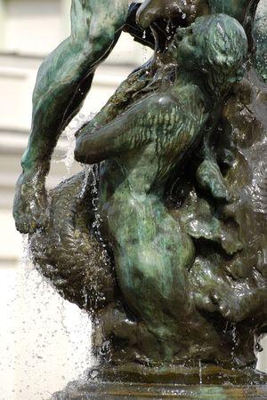 neptun:  Neptun fountain in Poznan on market-place