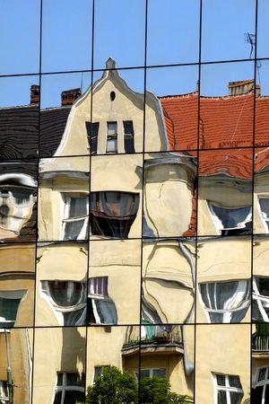deformity:  Building reflection in mirrors and deformity