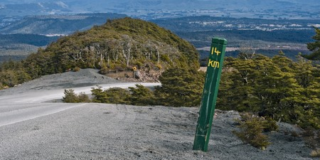 kilometre: 14th kilometer, Mt Ruapehu, North Island, New Zealand