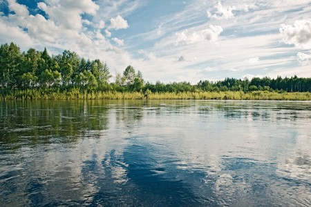 the amur: Dep river, the Amur region, Russia