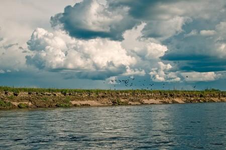 amur: Dep river, the Amur Region, Russia