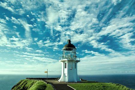Lighthouse at Cape Reinga photo