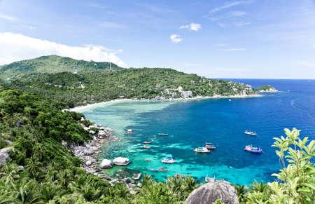 koh tao: Viewpoint at Koh Tao Island Stock Photo