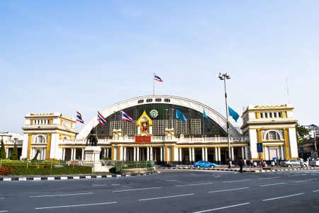 thai flag: Railway Station at Thailand