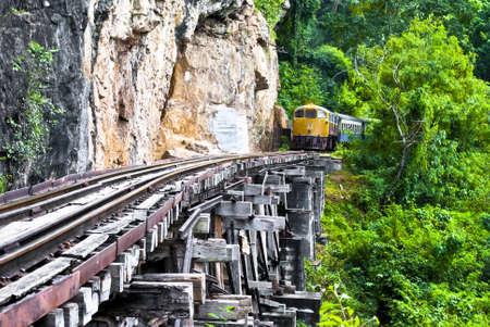 Railway on the cliff   photo
