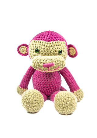 knitted: Pink Monkey Knitted doll