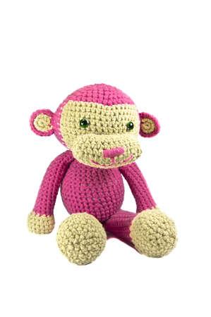 poup�e: Rose Monkey tricot� poup�e