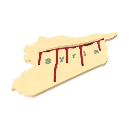 hemorragias: Representación 3d del modelo simbólico 3d de sangrar Siria.