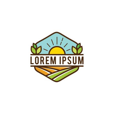 Organic farm logo design.