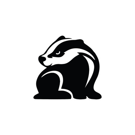 Iconic badger logo design