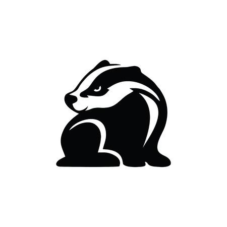 Iconic badger logo design