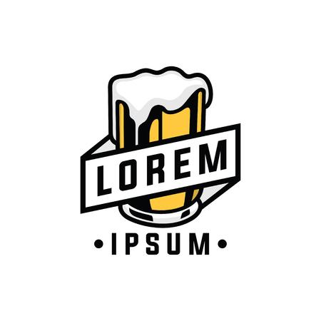 beer logo design. Vector illustration. Imagens - 95208263