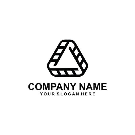 abstract triangle logo design. Vector illustration. Imagens - 95208264