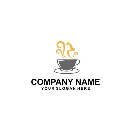 Cafe cat and dog logo design. Imagens - 95249000