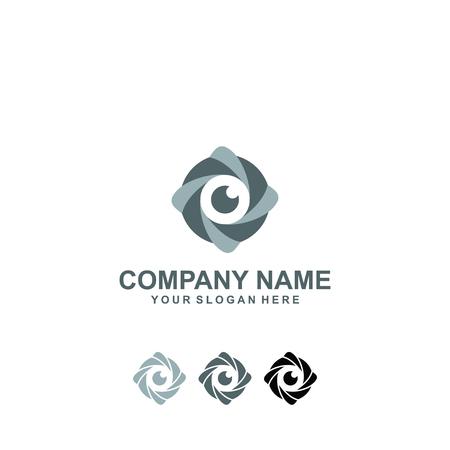 Lens logo design. Imagens - 95249001