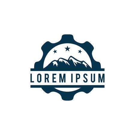 Mountain gear logo design. Imagens - 95249005