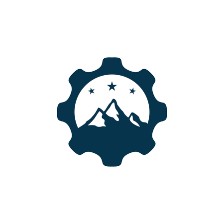 gear mountain two logo design.