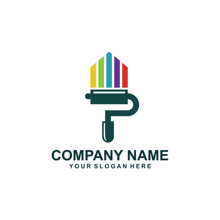 paint colour logo design.