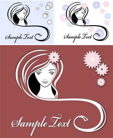 Girl advertising means of hair   Stock Vector - 13167680