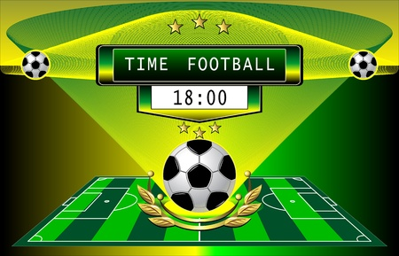 For advertising time football matches or demonstration football championship