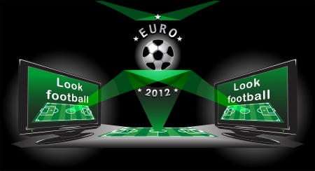 Look football poster for advertising EURO 2012
