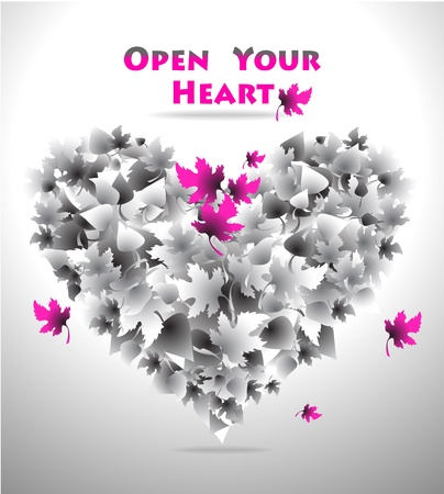 Concept Open Your Heart for love or  for music or  for art or for other things Stock Vector - 13862242
