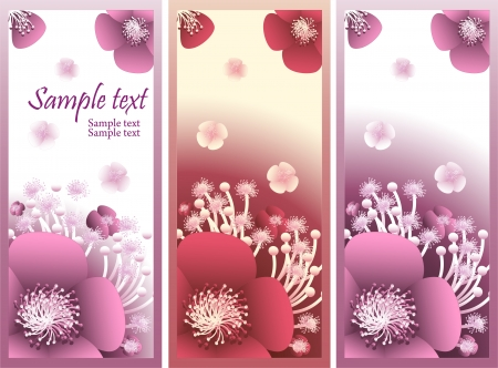 Banner with abstract flowers for flowers shop or advertising perfume