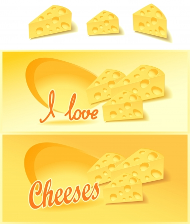 isolates: Cheese isolates and for advertising of cheese in the shop Illustration